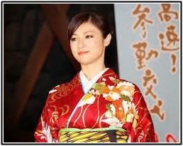 深田恭子、和服姿